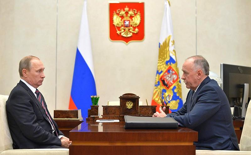 Презедент России Владимир Путин и директор ФСКН Виктор Иванов