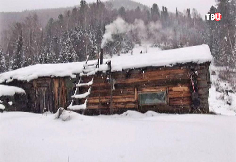 Изба отшельницы Агафьи Лыковой в Хакасии
