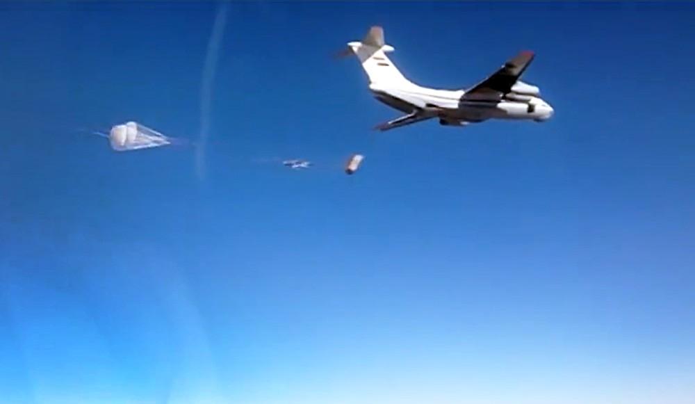 Военно-транспортный самолет Ил-76 доставил гуманитарную помощь в Сирию