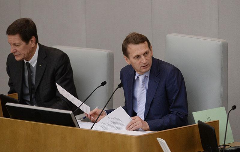 Сергей Нарышкин на пленарном заседании Госдумы России