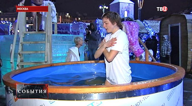 Верующие отмечают Крещение Господне