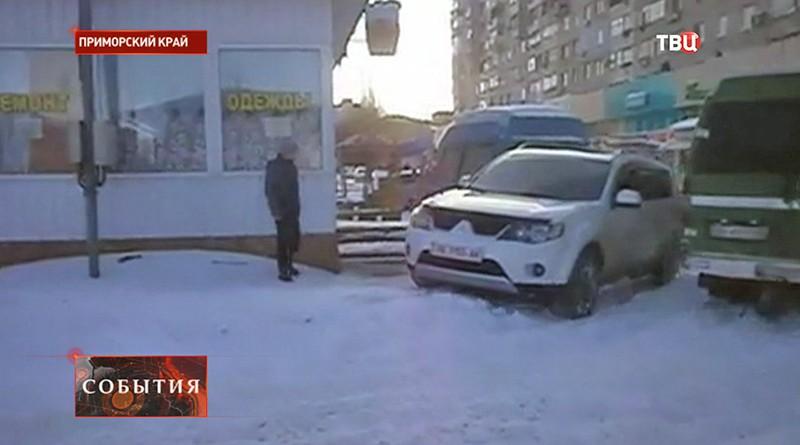 Снег в Приморском крае
