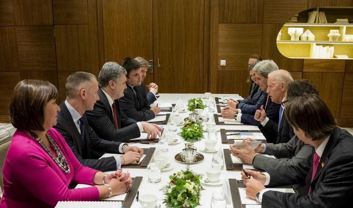Переговоры украинской и американской делегаций в Давосе