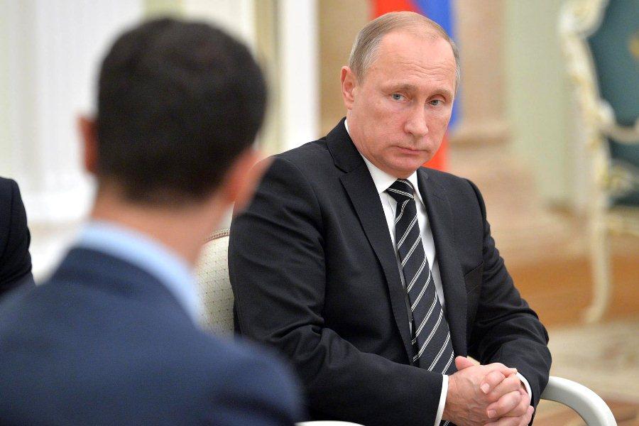 Встреча Владимира Путина и Башара Асада в Кремле 20 октября 2015 года
