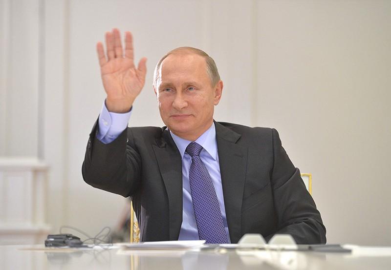 Президент России Владимир Путин во время видеоконференции с президентом Аргентины Кристиной Фернандес де Киршнер в Кремле