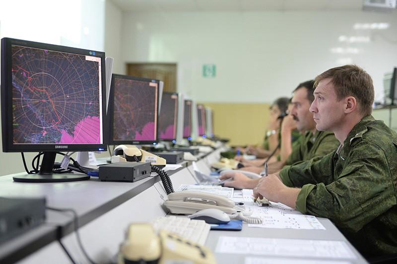 Работа командного центра ПВО