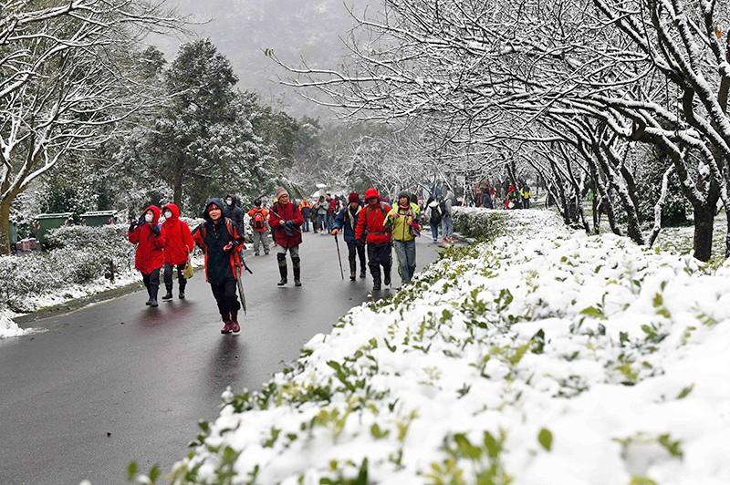 Снегопад в Тайване