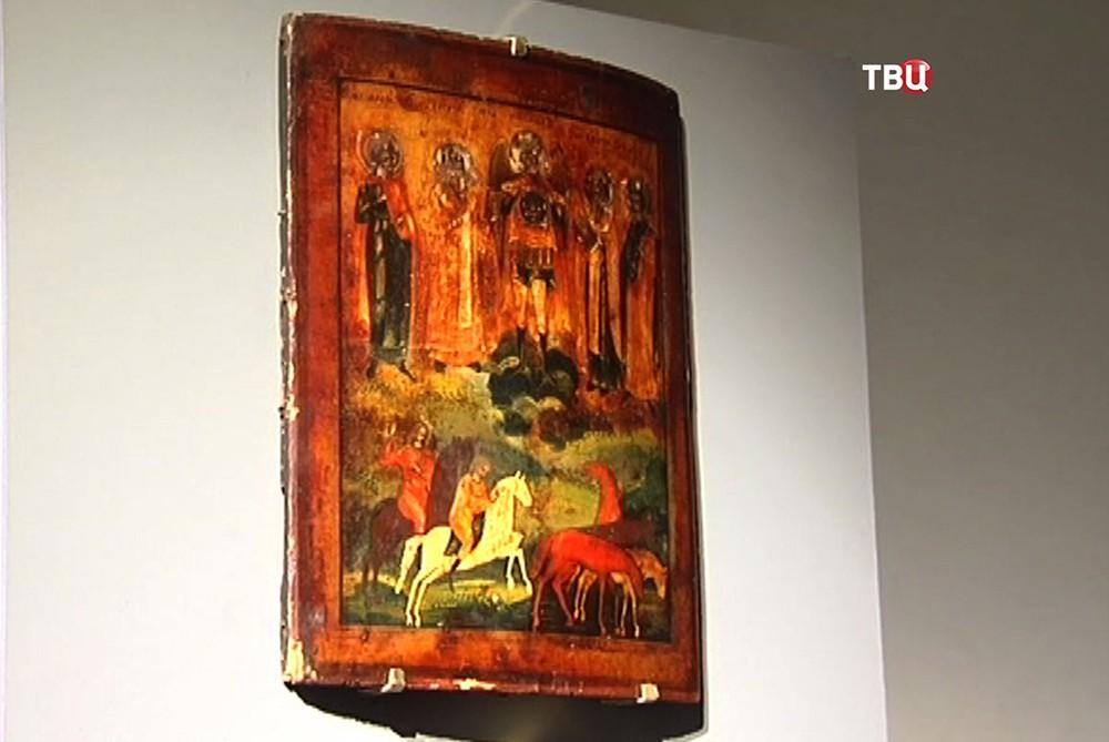 Экспонаты выставки в Доме Высоцкого на Таганке