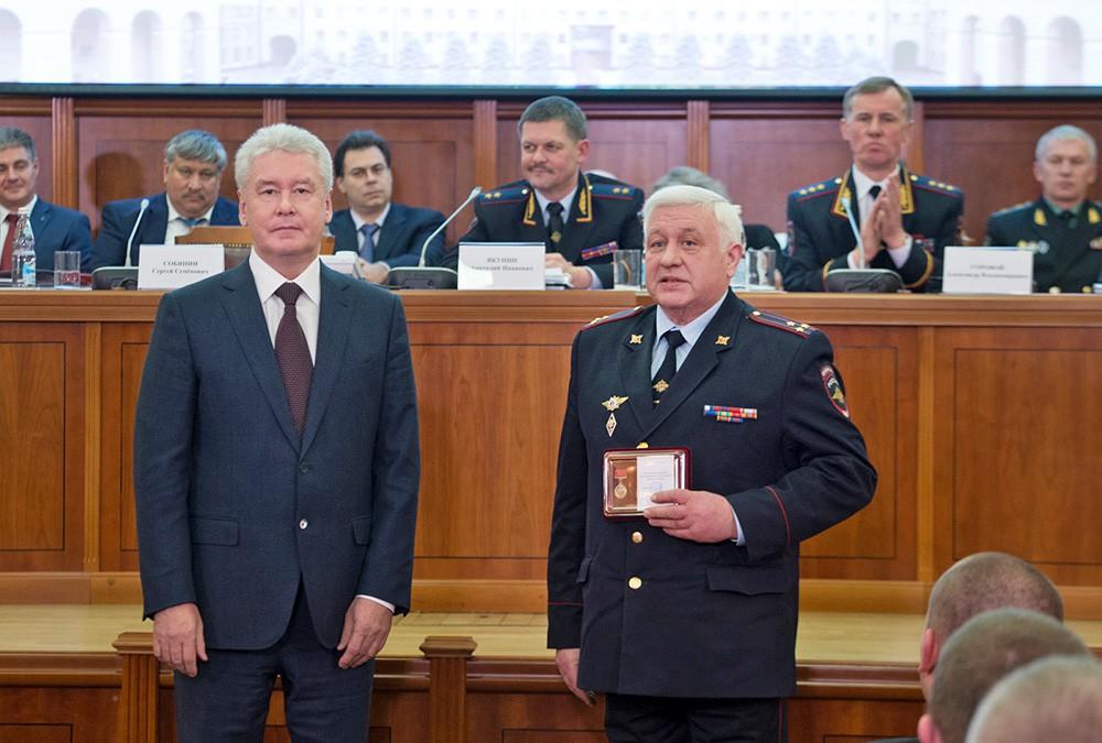 Сергей Собянин на расширенном заседании коллегии ГУ МВД России по Москве