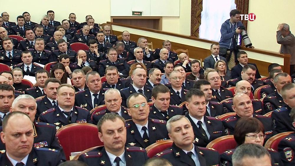 Расширенное заседания коллегии ГУ МВД России по Москве