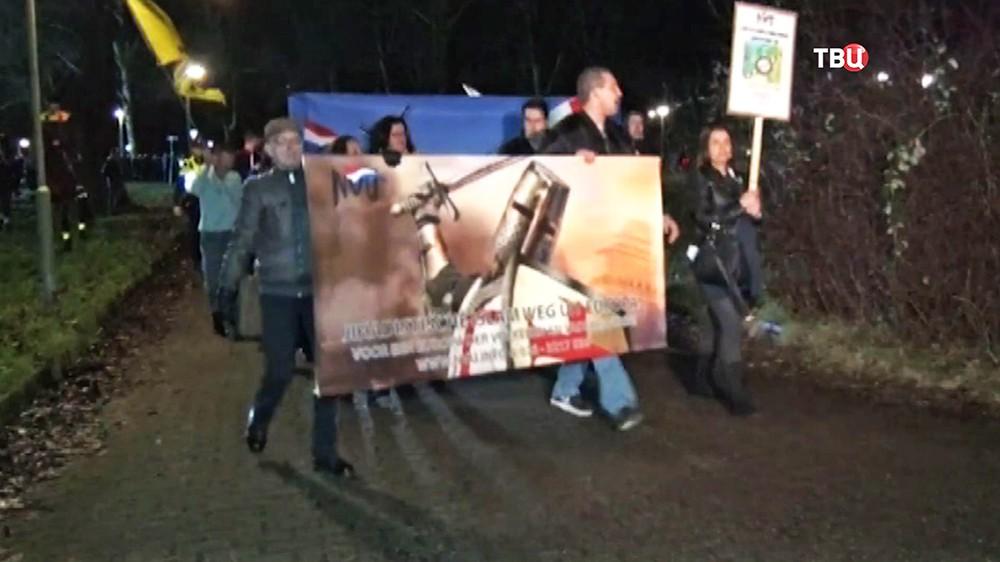 Антимиграционный митинг в Нидерланах