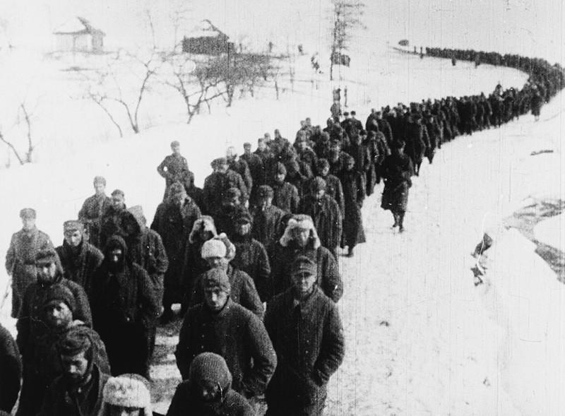 Пленные немецкие солдаты