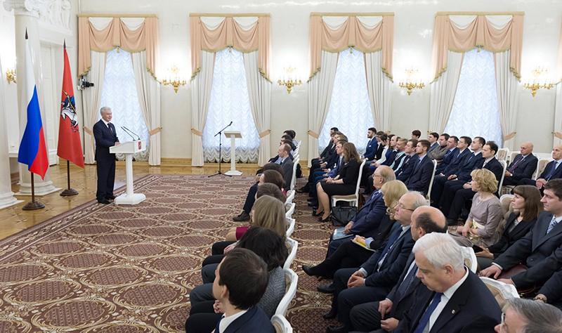 Церемония вручения премий правительства Москвы молодым учёным