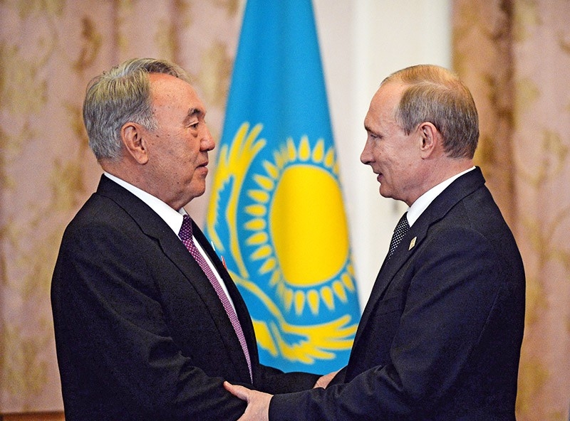 Президент Российской Федерации Владимир Путин и Президент Республики Казахстан Нурсултан Назарбаев
