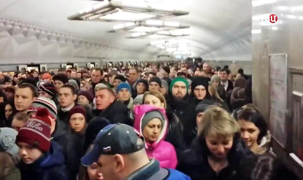 """Давка на станции метро """"Тульская"""""""