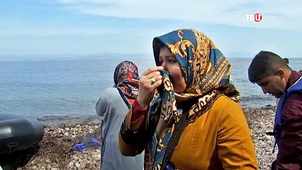 Мигранты на берегу