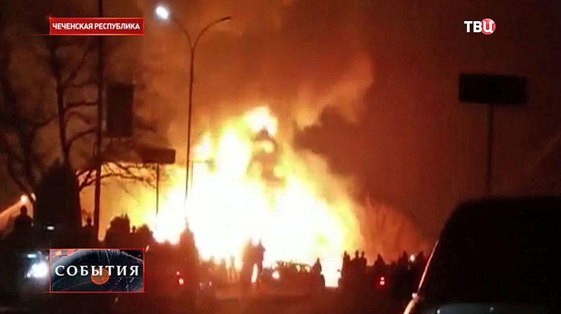 Пожар в Грозном