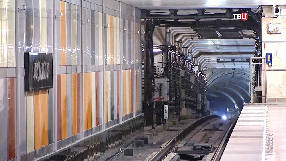 """Тоннель метро на станции """"Саларьево"""""""