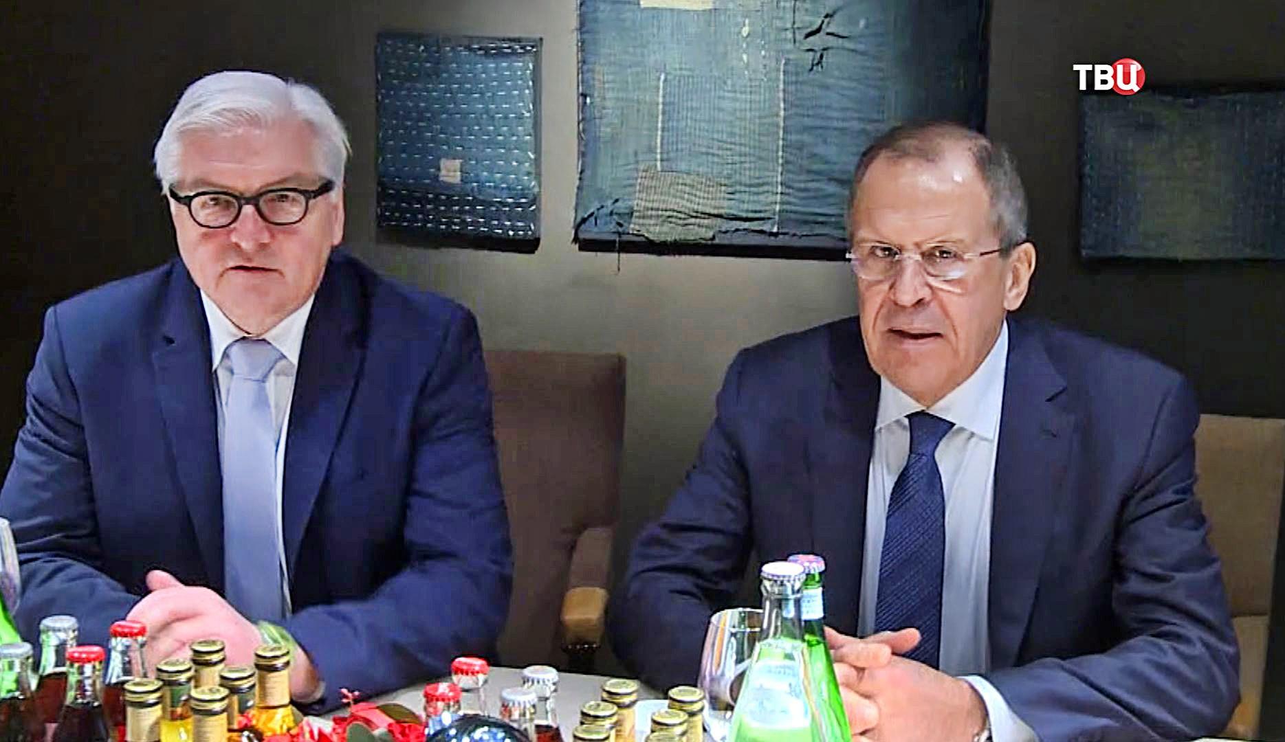 Глава МИД России Сергей Лавров и глава МИД ФРГ Франк-Вальтер Штайнмайер