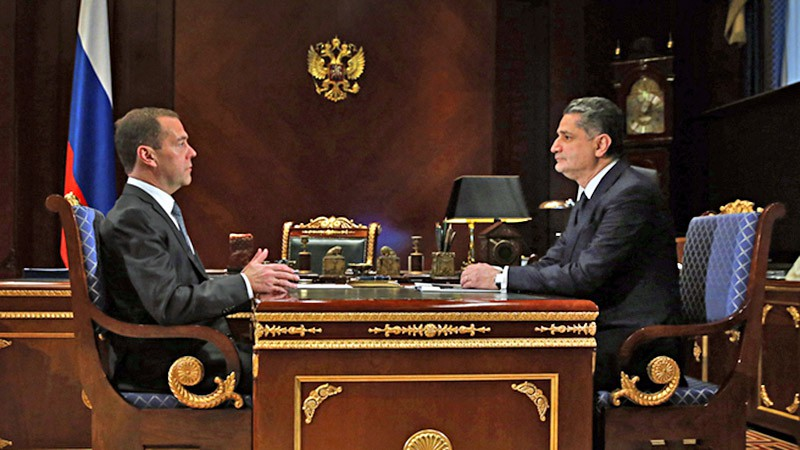 Дмитрий Медведев и Тигран Саркисян