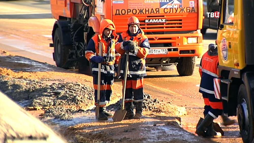 Работники дорожной службы