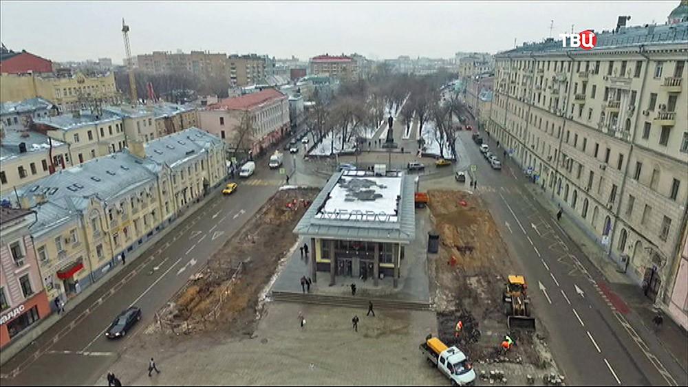 """Последствия сноса самостроя у метро """"Чистые пруды"""""""