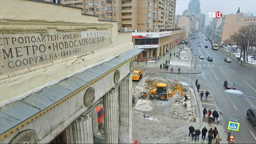 """Последствия сноса самостроя у метро """"Новослабодская"""""""