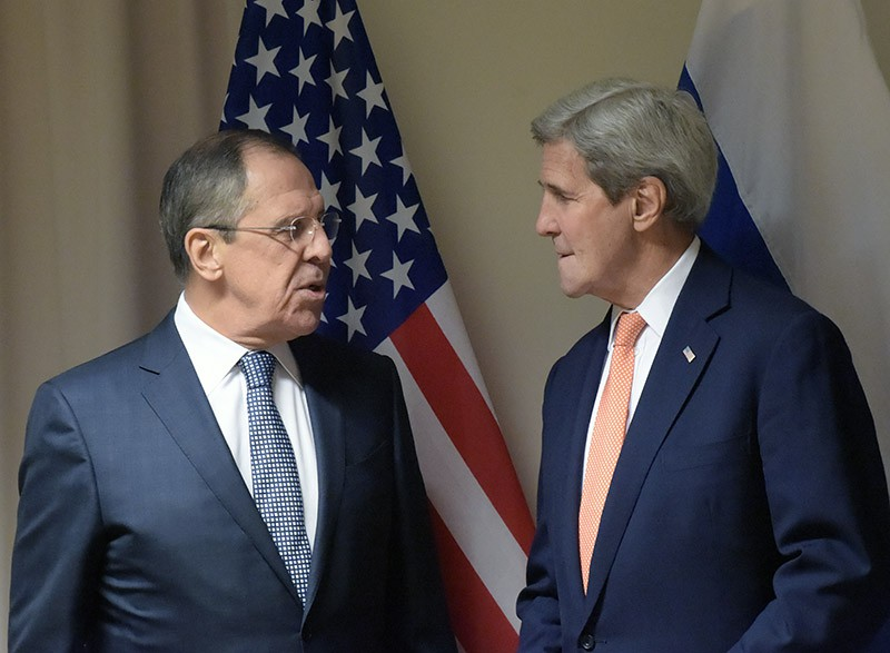 Министр иностранных дел РФ Сергей Лавров и государственный секретарь США Джон Керри
