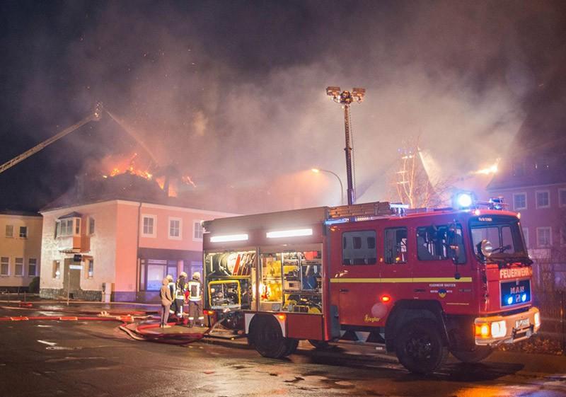 Пожар в приюте для беженцев в Германии