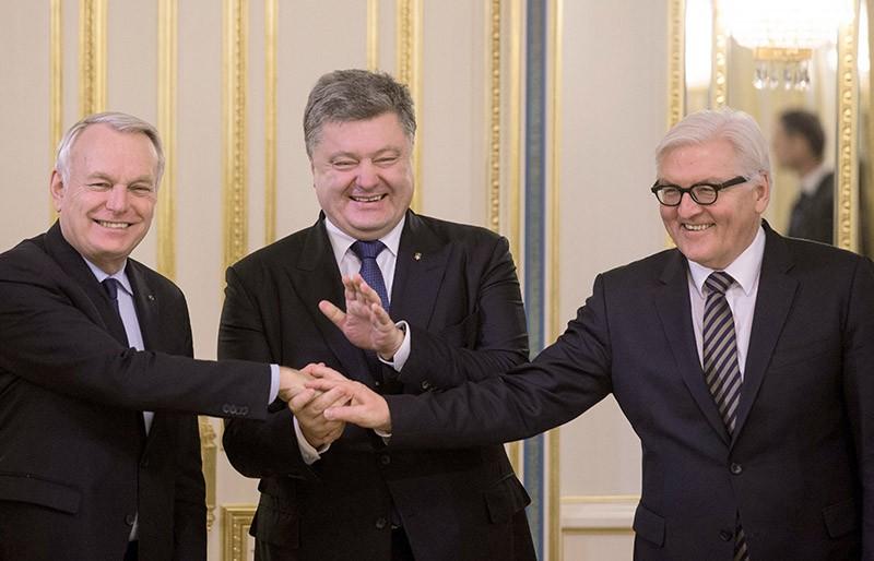 Встреча президента Украины Петра Порошенко с главами МИД Германии и Франции