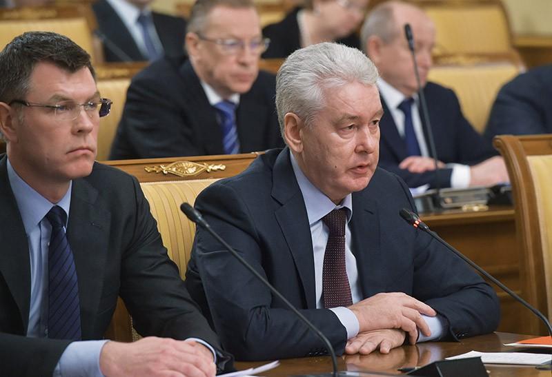 Мэр Москвы Сергей Собянин выступает на заседании кабинета министров