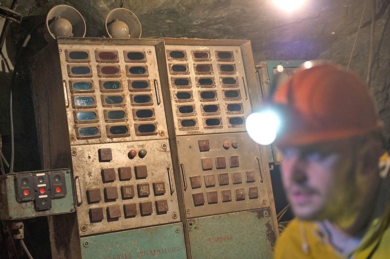 """Рабочие на шахте """"Северная"""""""