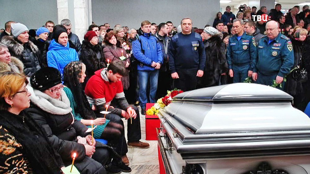 Траур по погибшим шахтерам в Воркуте