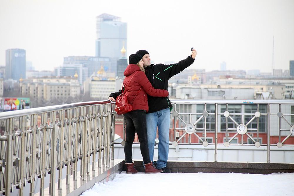 Селфи на фоне Москвы