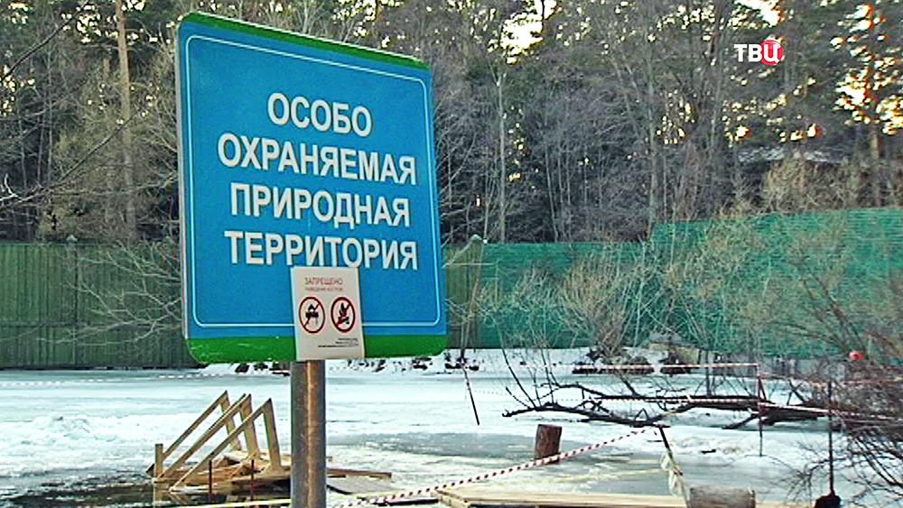 Забор на озере