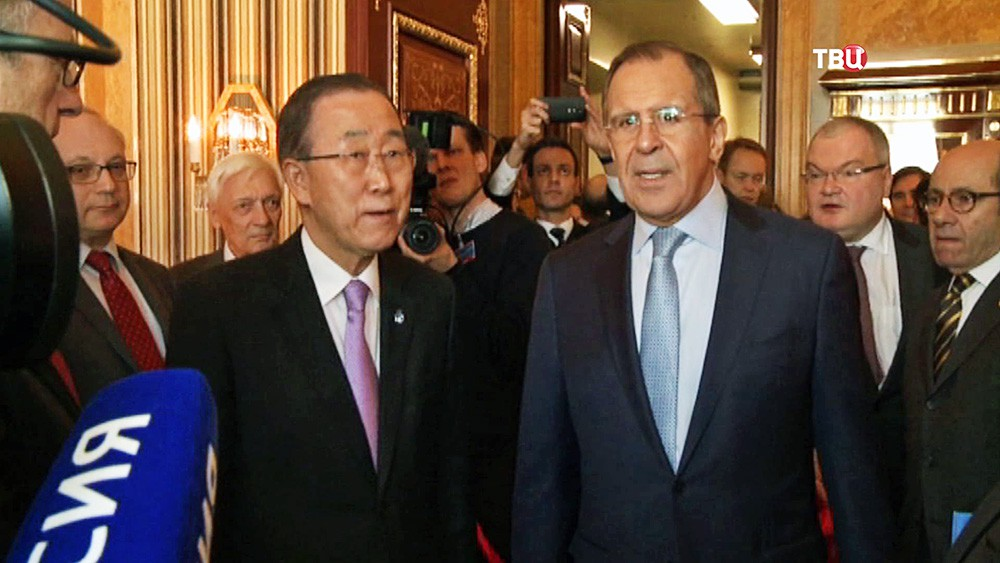 Пан Ги Мун и Сергей Лавров
