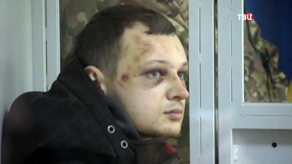 "Активист батальона ""Азов"" Станислав Краснов в суде"