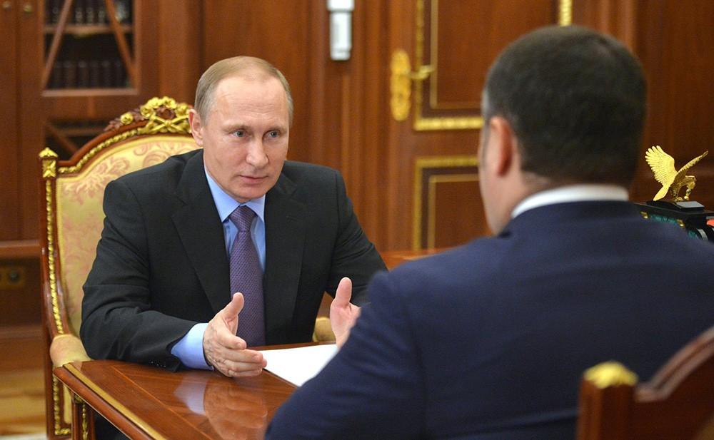 Владимир Путин и Игорь Руденя