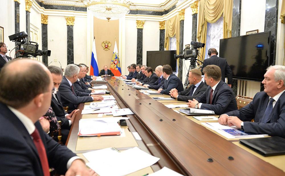 Совещание с членами Правительства РФ