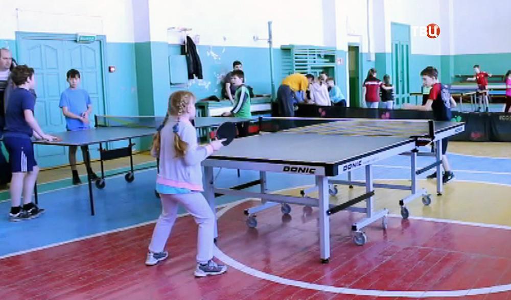 Детская секция настольного тенниса
