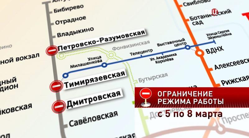 Закрытые станции