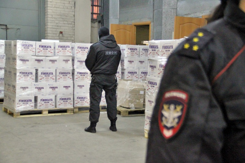 Полиция ликвидировала цех по производству контрафактного алкоголя