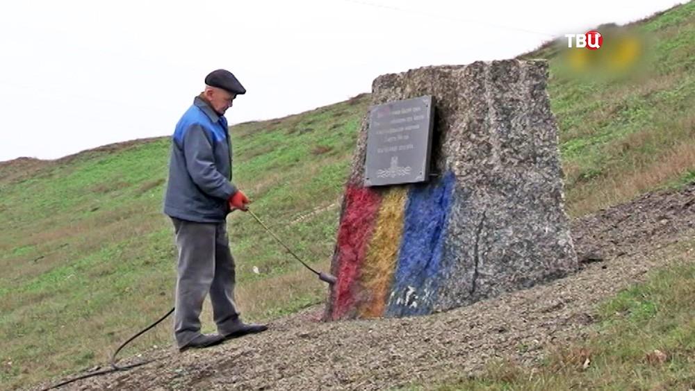Памятник советским воинам осквернили в Приднестровье