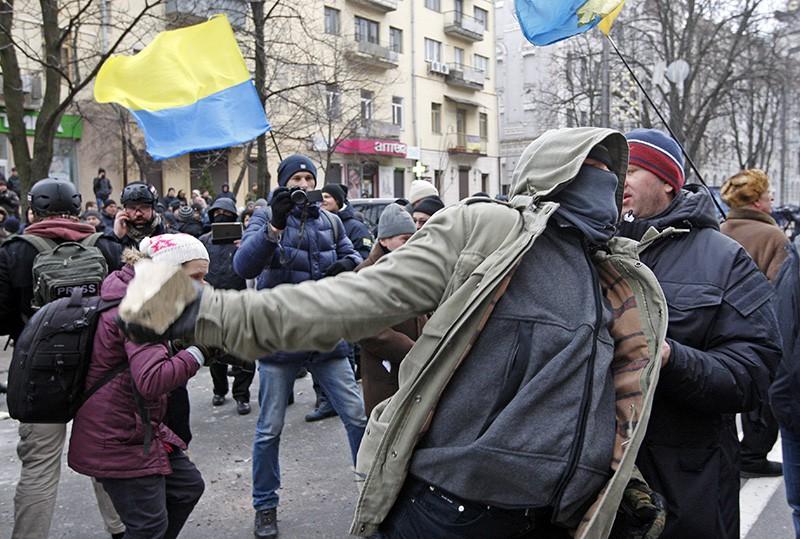 Акция протеста на Украине