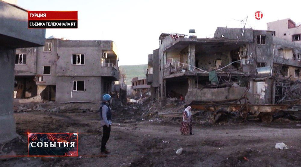 Разрушенный курдский город Джизре