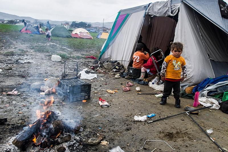 Палаточный городок мигрантов