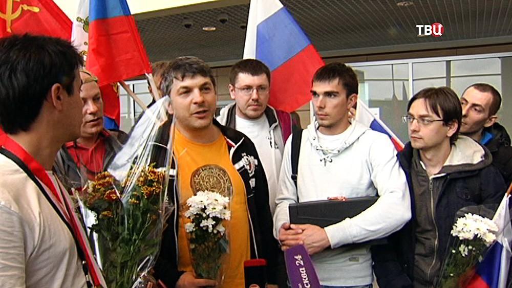 Бронзовые призеры на первом чемпионате мира по гонкам дронов