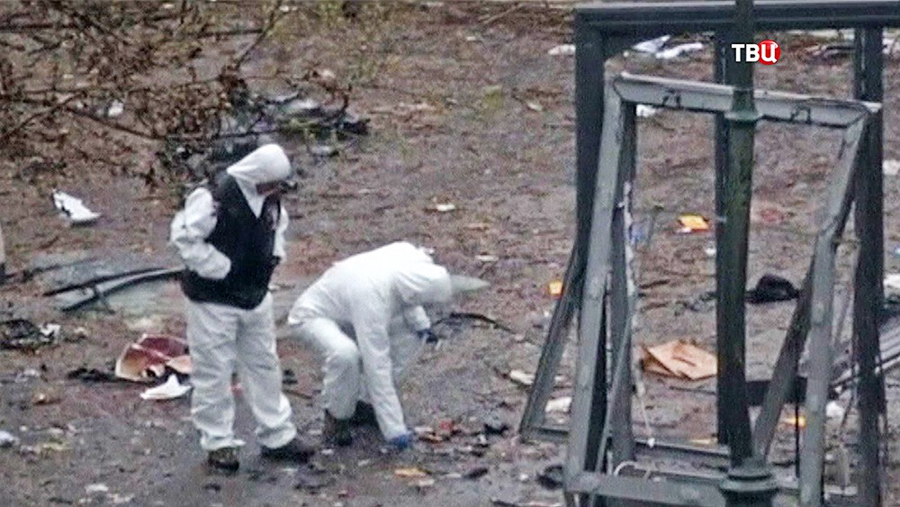Работа криминалистов на месте теракта в Турции