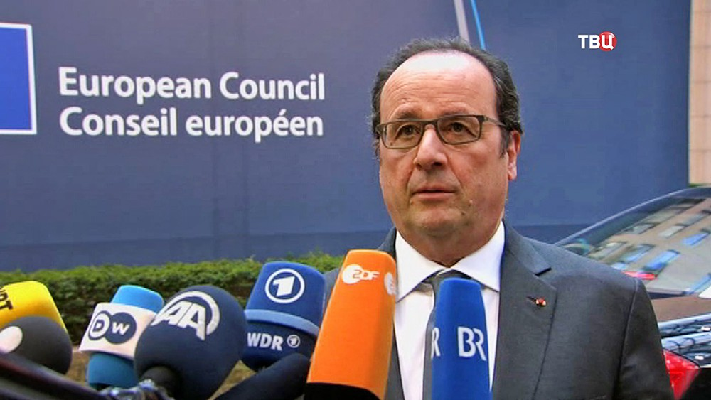 Президент Франции Франсуа Олланд