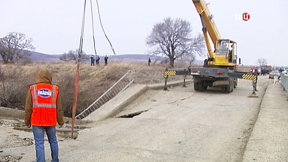 Последствия обрушение моста